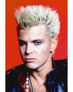 Billy Idol Black Close Up Color  8x10 Photograph