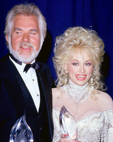 Kenny Rogers and Dolly Parton 8x10 Photograph