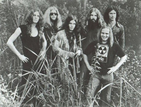 Lynyrd Skynyrd Band Early B/W 8x10 Photograph