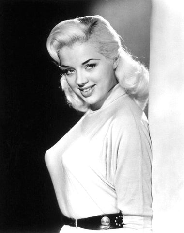 Diana Dors  White Sweater  B/W 8x10 Photograph