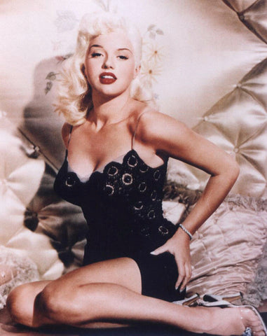Diana Dors  Black Lace and Satin  B/W 8x10 Photograph