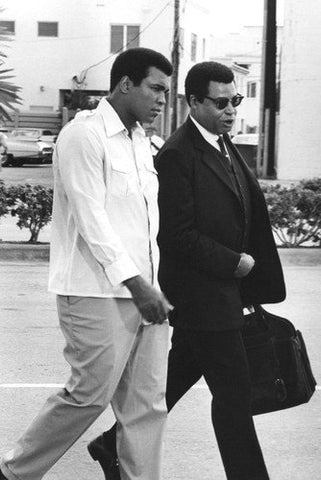 Muhammad Ali Walking B/W  8x10 Photograph