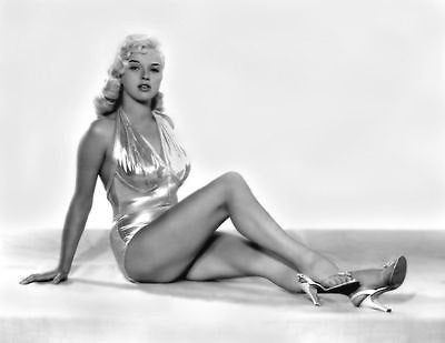 Diana Dors Gold Swimsuit B/W 8x10 Photograph