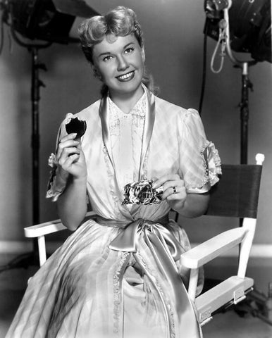 Doris Day Eating Candy B/W 8x10 Photograph