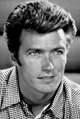 Clint Eastwood Close Up B/W 8x10 Photograph