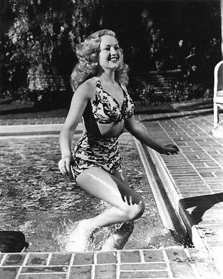 Betty Grable Emerging From Pool B/W 8x10 Photograph