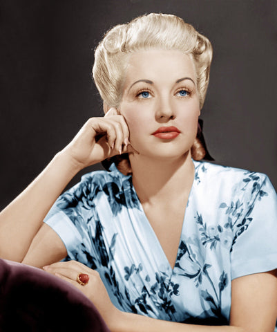Betty Grable Close Up  Color 8x10 Photograph