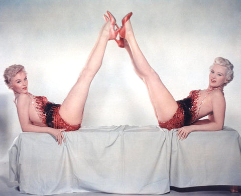 Sheree North Betty Grable Color 8x10 Photograph