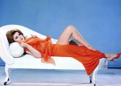 Ann Margret In Red On Couch  Color 8x10 Photograph