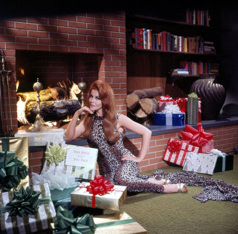 Ann Margret In Front Of Fireplace Color 8x10 Photograph