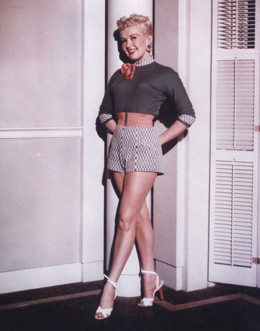 Betty Grable Shorts  Color 8x10 Photograph