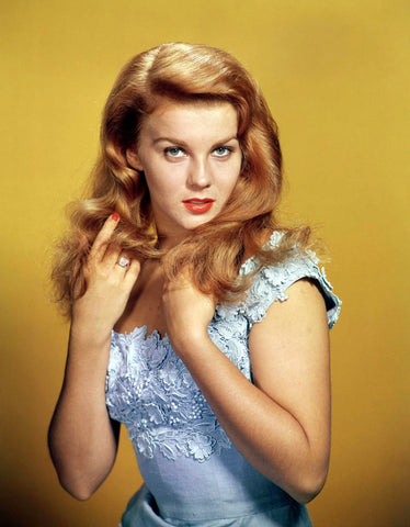 Ann Margret Blue Dress Close Up  Color 8x10 Photograph