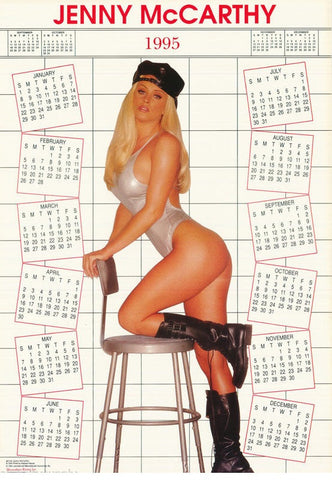Jenny McCarthy 1995 Calender  Color  Rare Poster