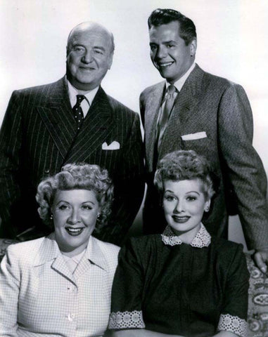 I Love Lucy Lucille Ball Vivian Vance Desi Arnaz and William Frawley   B/W 8x10 Photograph