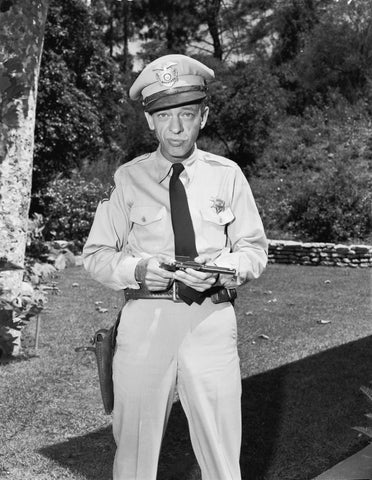 Andy Griffith Don Knotts Barney Fife  B/W 8x10 Photograph