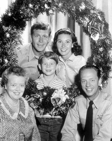 Andy Griffith Show Christmas Portait  B/W 8x10 Photograph