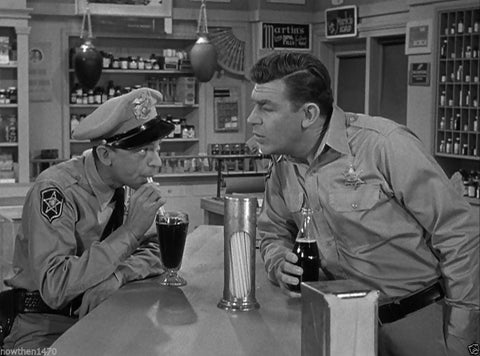 Andy Griffith Show Andy and Barney   B/W 8x10 Photograph