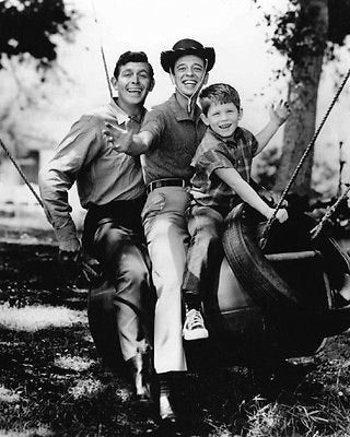 Andy Griffith Show Andy Barney and Opie  B/W 8x10 Photograph