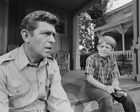 Andy Griffith Show Andy and Opie Taylor   B/W 8x10 Photograph