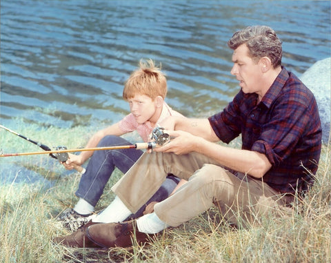 Andy Griffith Show Andy and Opie Taylor  Color 8x10 Photograph
