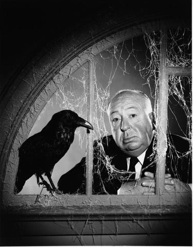 Alfred Hitchcock B/W 8x10 Photograph