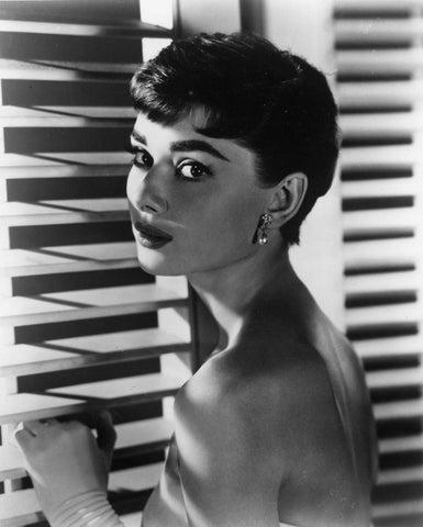 Audrey Hepburn Blinds B/W 8x10 Photograph