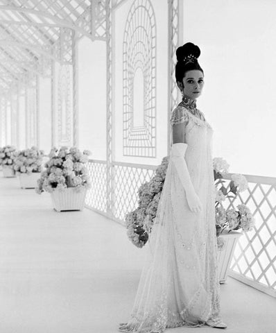 Audrey Hepburn White Dress B/W 8x10 Photograph