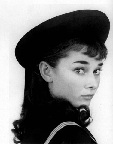 Audrey Hepburn Nautical Outfit B/W 8x10 Photograph