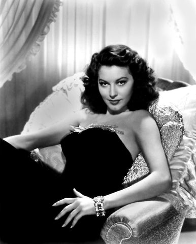 Ava Gardner Black Dress B/W 8x10 Photograph
