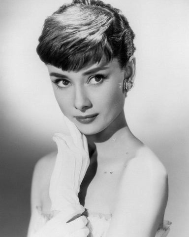 Audrey Hepburn Close Up B/W 8x10 Photograph