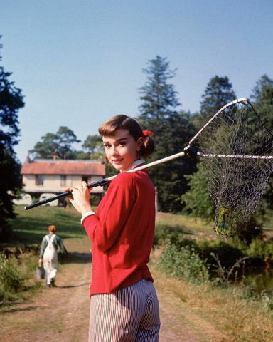 Audrey Hepburn Fishing Net Color 8x10 Photograph