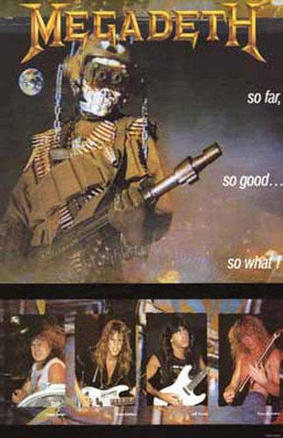 Megadeth So Far So Good So What Rare Poster