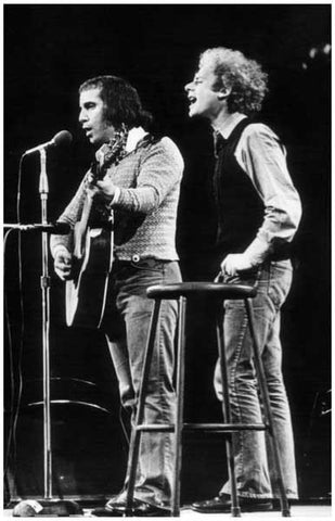 Simon and Garfunkel Live On Stage B/W Rare Vintage Poster