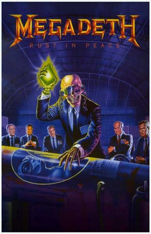 Megadeth Rust In Peace Rare Poster