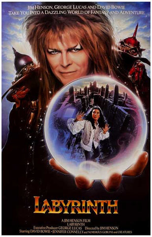 David Bowie Labyrinth Crystal Ball   Rare Vintage Poster