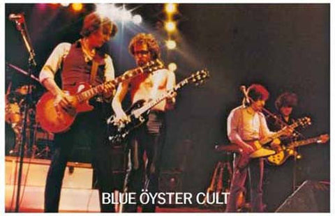 Blue Oyster Cult Live On Stage  Rare Vintage Poster