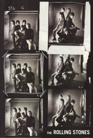 Rolling Stones  Photo Collage 1960's  Rare Vintage Poster