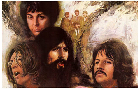 The Beatles The Long And Winding Road Vintage Art Poster