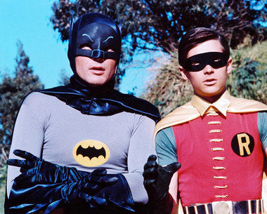Batman and Robin Adam West Burt Ward Color 8x10 Photograph