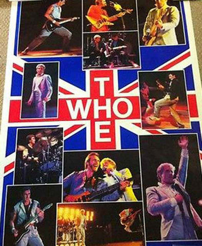 The Who Collage Giant  Rare Vintage Poster