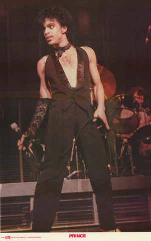 Prince Rogers Nelson Sexy Vest 1982 Music Poster