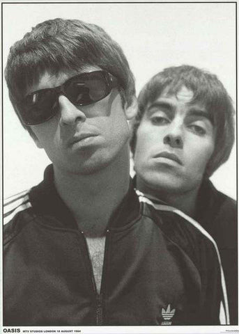 Oasis Noel and Liam Gallagher London 1994 Poster