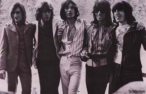 Rolling Stones Band Portrait 1970's Poster