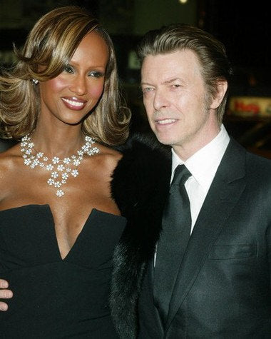 David Bowie and Iman  8x10 Photograph