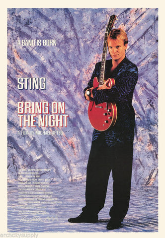 Sting Bring On The Night 1985  Rare Vintage Poster
