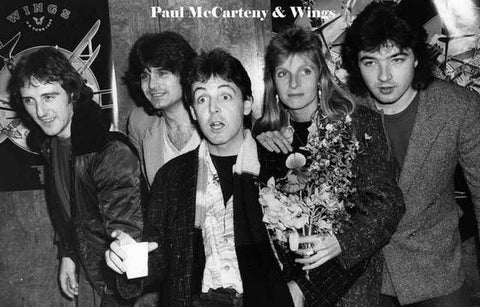 Paul McCartney and Wings Vintage Art Poster