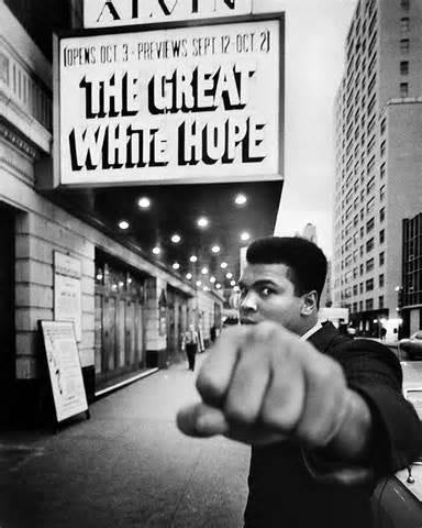 Muhammad Ali Great White Hope 1967 Rare Poster