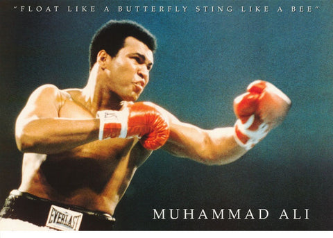Muhammad Ali Quote Float Like A Butterfly Sting Like A Bee Rare