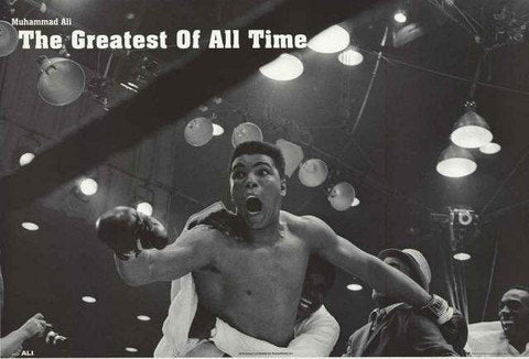 Muhammad Ali The Greatest Of All Time  Rare Poster