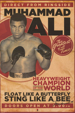 Muhammad Ali The Greatest Of All Time Heavyweight Champion Rare Poster